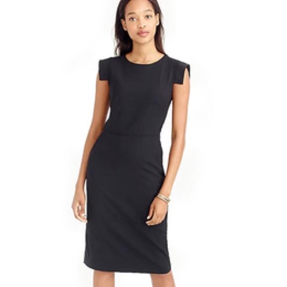NWT J. Crew black resume dress 16